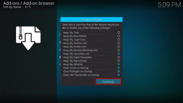 Step 16 Install Slamious Kodi Build