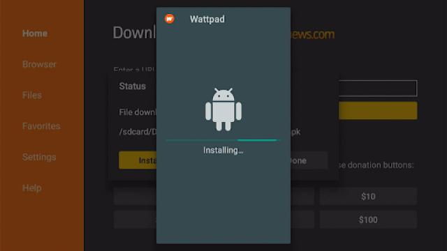 Step 17 Install Wattpad Premium MOD on Firestick