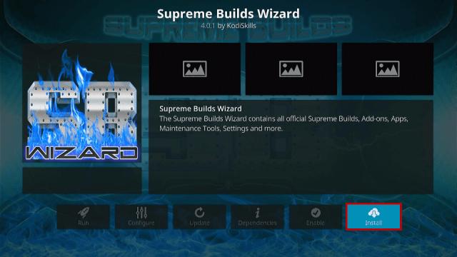 Step 18 Install Titanium Kodi Build