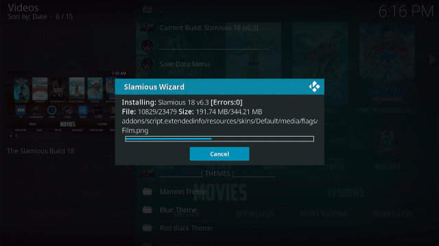Step 21 Install Slamious Kodi Build