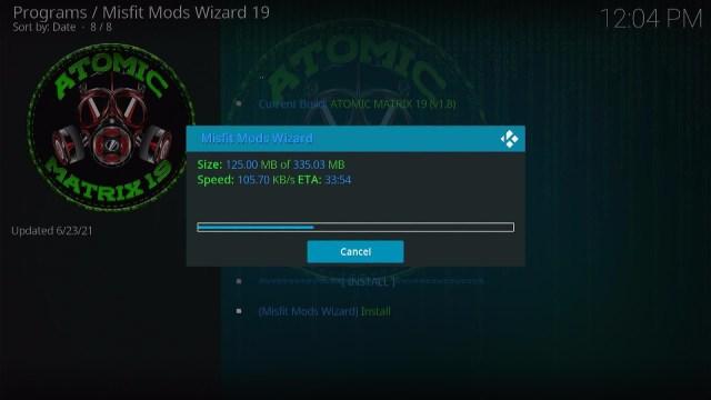 Install Atomic Matrix Kodi Build 26