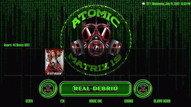 Install Atomic Matrix Kodi Build 29