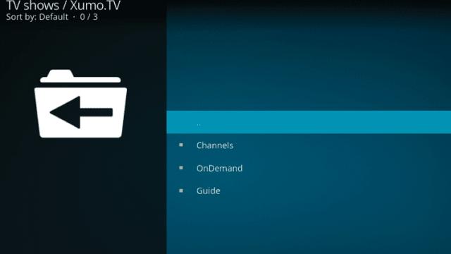 Install the XUMO TV Kodi Addon Step 10