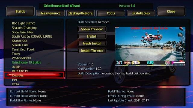 Install Decades Kodi Build 26