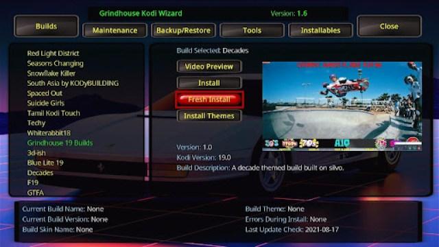 Install Decades Kodi Build 27