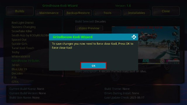 Install Decades Kodi Build 31