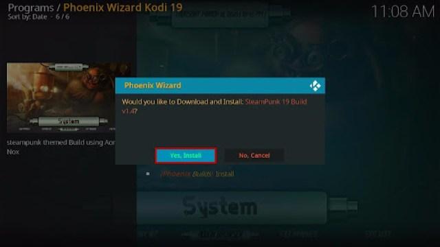 Install SteamPunk Kodi Build 30