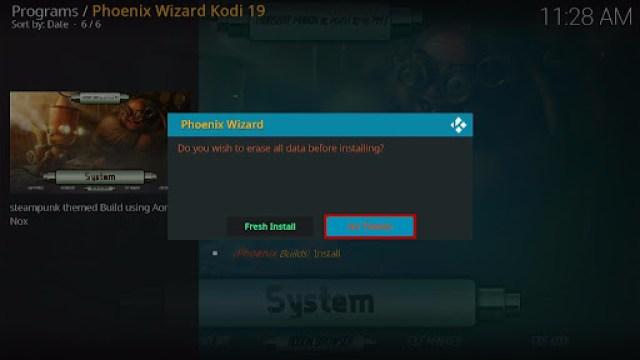 Install SteamPunk Kodi Build 32