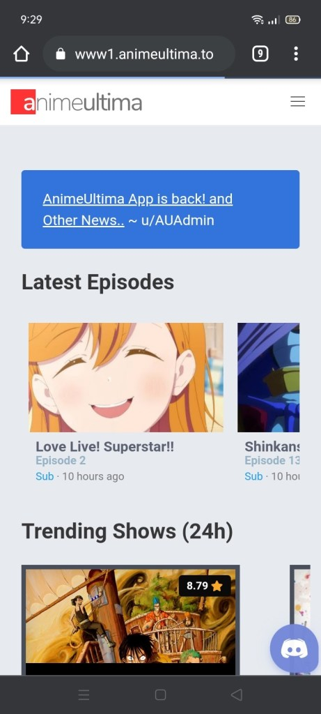 Stream the AnimeUltima Website on your Android Device 3