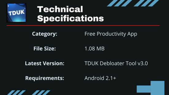 TDUK Technical Specifications 1