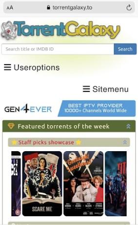 TorrentGalaxy on IOS