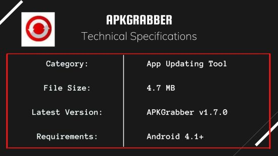 APKGrabber Specs 1