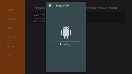 Install Insta IPTV App on your Fire TV stick Step 17
