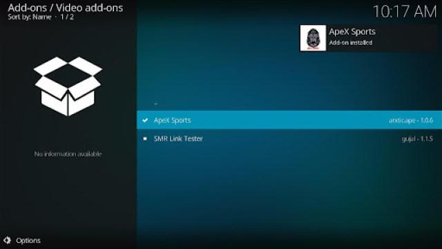 Install ApeX Sports Kodi Addon 21