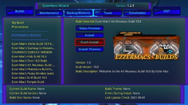 Install EzzerMacs Build on Kodi 28