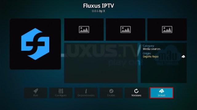 Install Fluxus IPTV Kodi Add-on 20