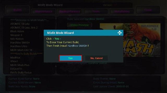 Install HardNox SMASH Kodi Build 27