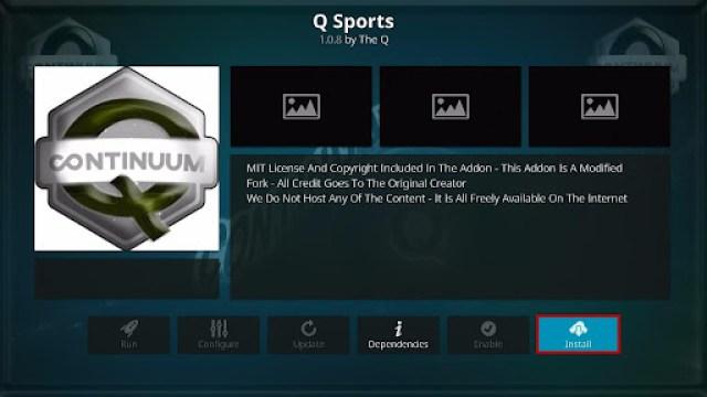 Install Q-Sports Kodi Addon 19