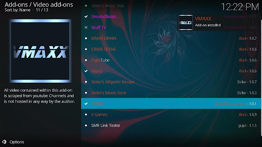 Install VMAXX Kodi Addon 21