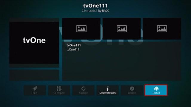 Install tvOne Kodi Addon 19