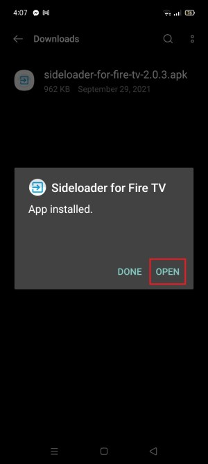 Install Sideloader for Fire TV App on Your Android 11