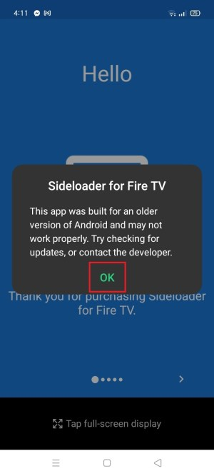 Install Sideloader for Fire TV App on Your Android 14
