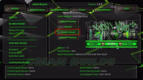 Kodi Man Build 27