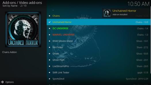 Install Unchained Horror Kodi Addon 21
