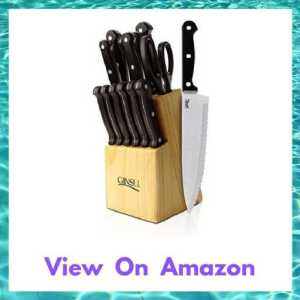 Ginsu 04817 Essential Series 14-Piece Stainless Steel Knife Set