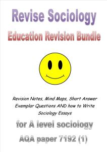 Sociology of Education Cover