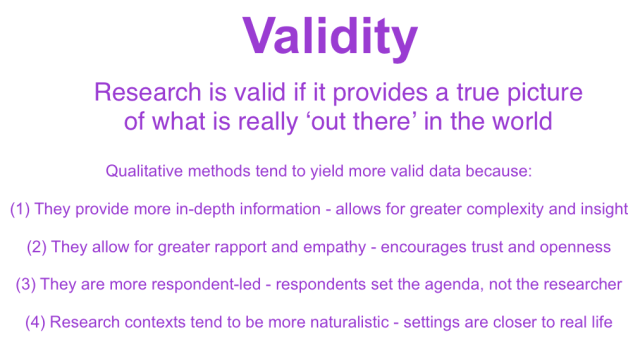 validity sociology definition