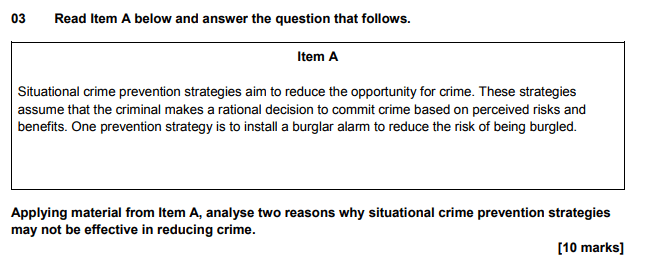 sociology exam question