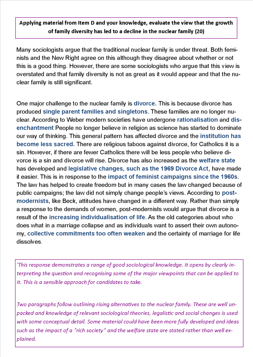 Evaluate The View That The Growth Of Family Diversity Has Led To A  Family Diversity Essay
