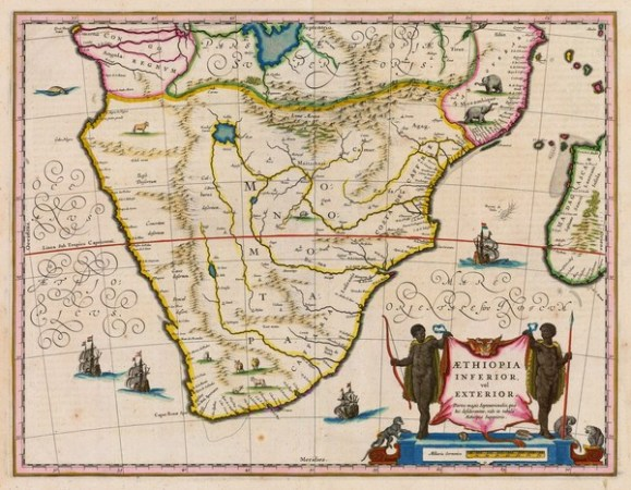 An early Portuguese map showing the Mutapa state