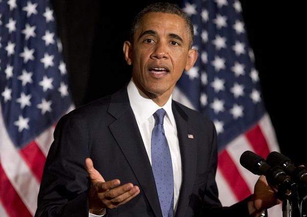 President Barack Obama at a Democratic Senatorial Campaign Committee (DSCC) event. Image via Steinershow