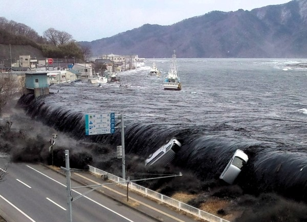 A tsunami in Miyako Japan 2011/Image credit Ibtimes.