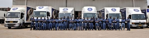 A fleet of bakery trucks owned by Innscor Africa. Image credit innscorafrica.com