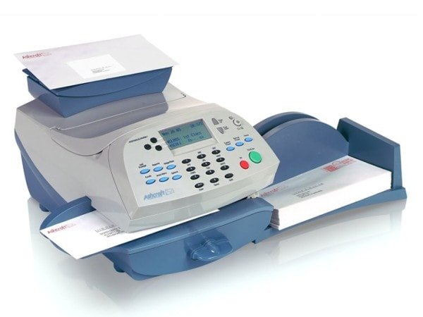 A franking machine. Image credit ashcroftmailingsolutions.co.uk