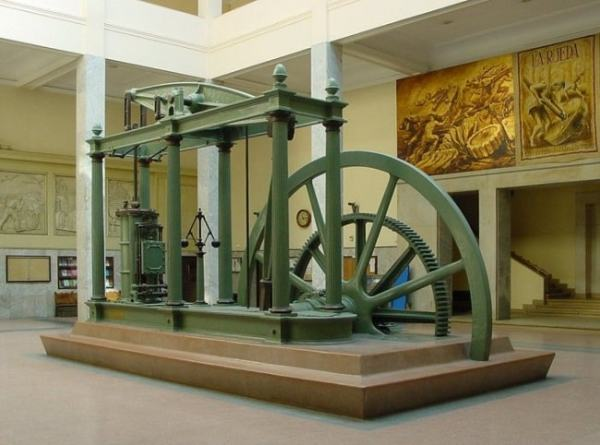 Watt's steam engine. Image credit MediaWiki