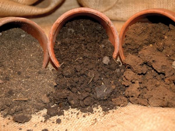 Sand, Loam and Clay soil samples. Image credit ayersbasementsystems.com