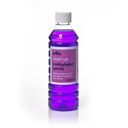 A bottle of methylated spirit. Image credit wilko.com