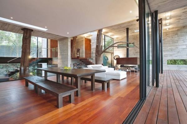 A house is a structure, so is furniture and staircases window/door frames etc. Image credit abduzeedo.com