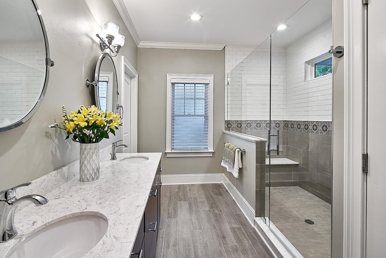 wood look porcelain tile for your bathroom revision charlotte