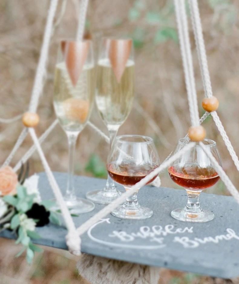 Taças e copos para festa de casamento sherry