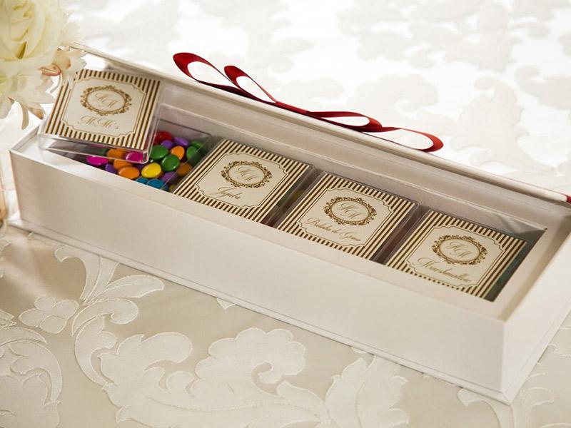 Lembrancinhas para daminhas e pajens caixa de doces
