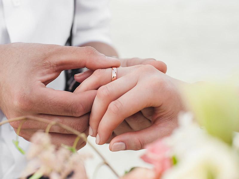 Aliança de casamento símbolo de união