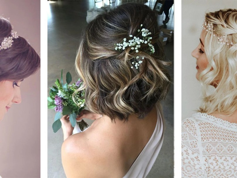 Penteados De Casamento Para Cabelo Curto - Penteados natural