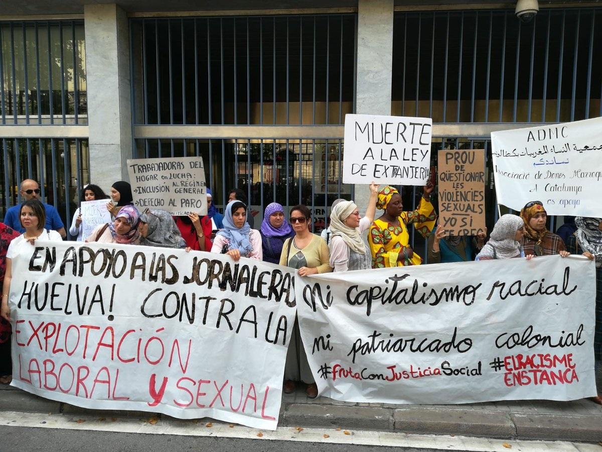 Colectivos feministas de varias ciudades convocan concentraciones de apoyo a las cuatro temporeras cuya causa ha sido archivada sin haber sido escuchadas por el juez