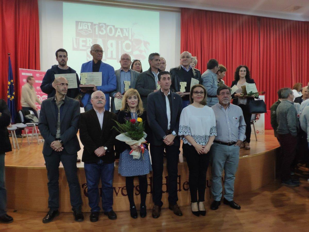 UGT Huelva conmemora su 130 aniversario homenajeando a 13 sindicalistas históricos onubenses