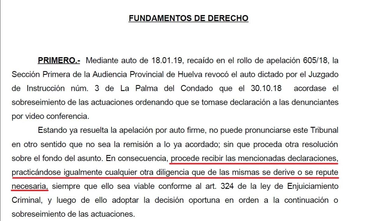 La Audiencia Provincial tumba el sobreseimiento y ordena al juez Serrano de La Palma del Condado escuchar el testimonio de las 'Temporeras contra la esclavitud'